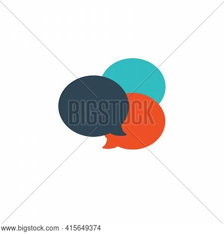 Speech Bubbles Different Colors. Talk Communication Speech Bubbles. Dialog Elements. Conversation An