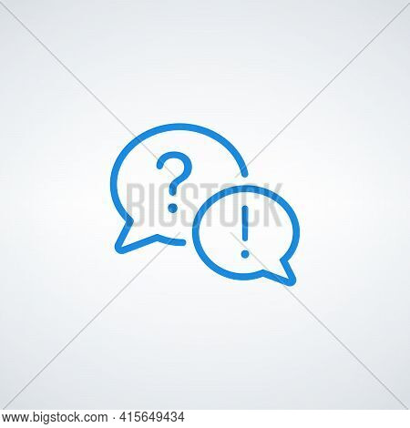 Exclamation Mark And Question Mark Icon, Questions And Answers. Information Discussion Symbol. Dialo