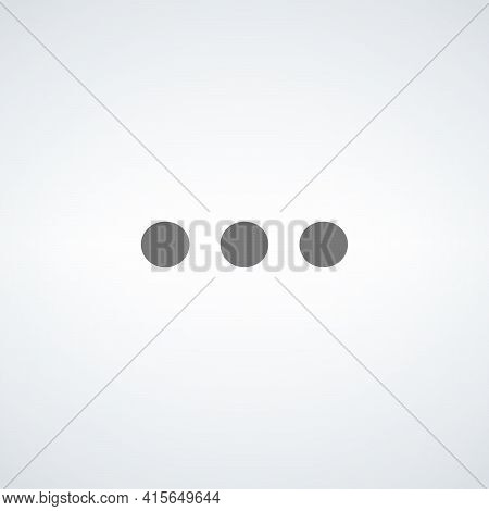 More Icon, Three Dots Icon, Settings Button. Stock Vector Illustration Isolated