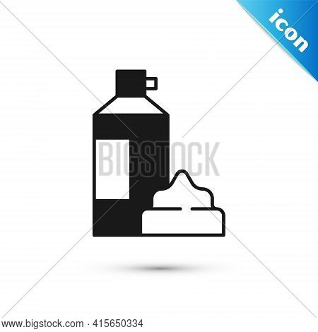 Grey Whipped Cream In An Aerosol Can Icon Isolated On White Background. Sweet Dairy Product. Milk Pr