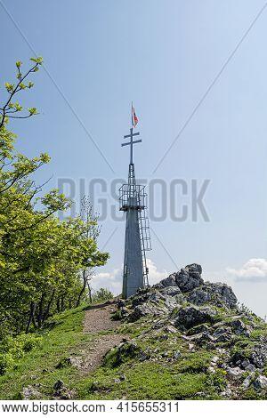 Lookout Tower In Vapenna - Rostun Hill, Little Carpathians, Slovak Republic. Travelling Theme.
