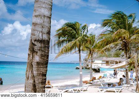 Selective Focus With Blurry Background Curacao Caribbean Island, Kokomo Beach Views Around The Carib