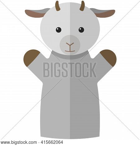 Vector Goat Hand Puppet Doll For Theatre Show