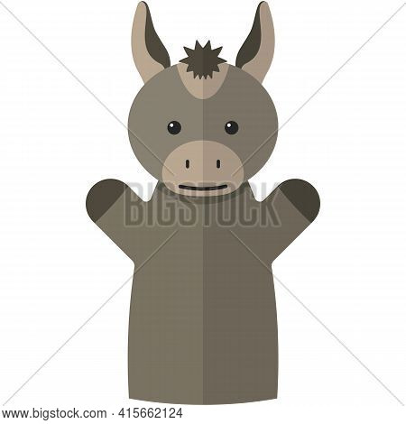 Vector Donkey Hand Puppet Doll For Theatre Show