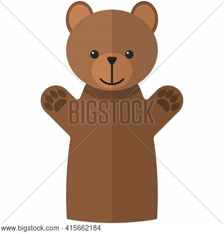 Vector Clubfoot Bear Hand Puppet Doll For Theatre Show