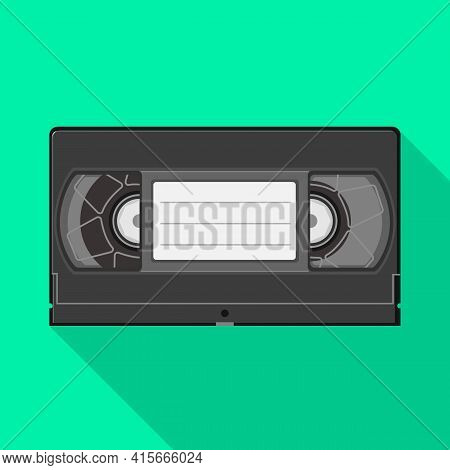 Vector Design Of Videotape And Videocassette Logo. Web Element Of Videotape And Reel Stock Vector Il