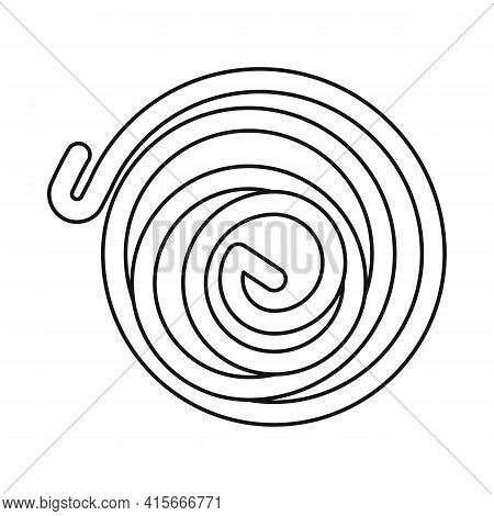 Isolated Object Of Coil And Detail Symbol. Web Element Of Coil And Metal Stock Symbol For Web.