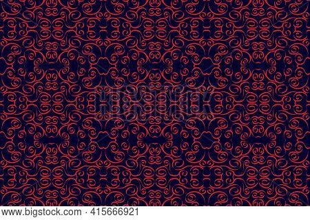 Hand Drawn Striped Red. Seamless Pattern Fabric Background. For Curtain, Carpet, Wallpaper, Cloth, W