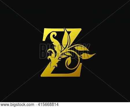 Luxury Z Letter Design. Graceful Ornate Icon Vector Design. Vintage Drawn Emblem For Book Design, Br