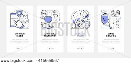 Charity - Modern Line Design Style Web Banners