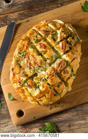 Homemade Cheesy Pull Apart Garlic Bread