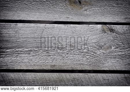 A Grey Old Wooden Background. Close Up.