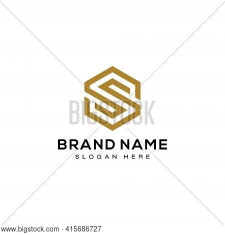 Initial Letter S Hexagon Logo Design Vector