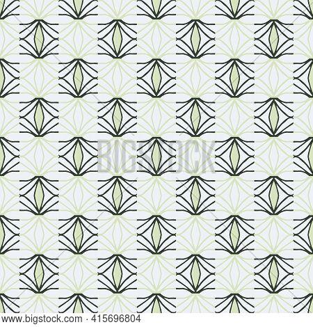 Hand-drawn Vector Pattern In Scandinavian Colors. Vector Illustration