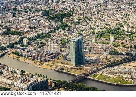 Frankfurt, Germany - June 13, 2015: The New Seat Of The European Central Bank In Frankfurt Am Main,