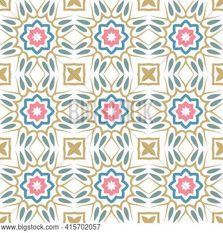 Ornament Seamless Pattern. Mandala Background