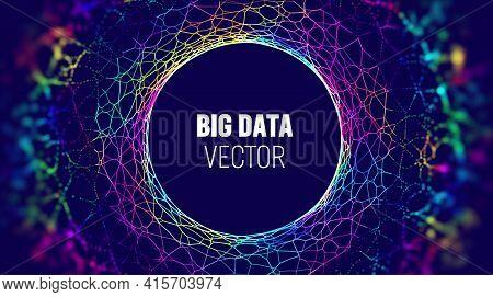 Big Data Iot Background. Big Data Artificial Intelligence Analysis Technology Background. Neural Net