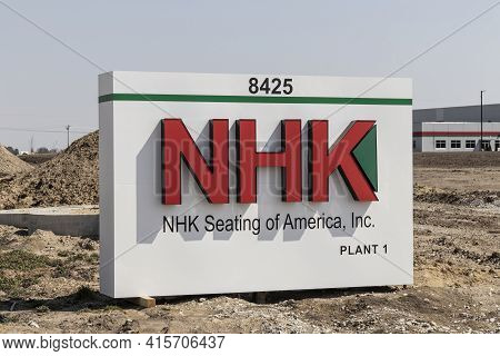 Frankfort - Circa April 2021: Nhk Seating Of America Plant. Nhk Seating Is A Supplier For Subaru Of
