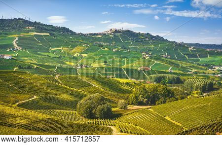Langhe Hills And Vineyards Landscape, Barolo And La Morra, Unesco Site, Piedmont, Northern Italy Eur