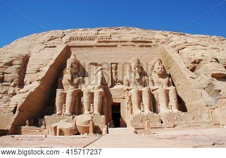 The Temple of King Ramses II at Abu Simble