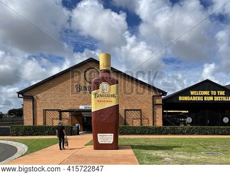 Bundaberg, Australia - March 1, 2021: Facade Of The Rum Distillery Which Commenced Operations In 188