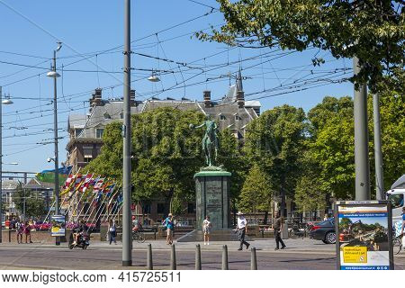 The Hague, Netherlands - July 03, 2018: Equestrian Monument To King William Ii Of The Netherlands