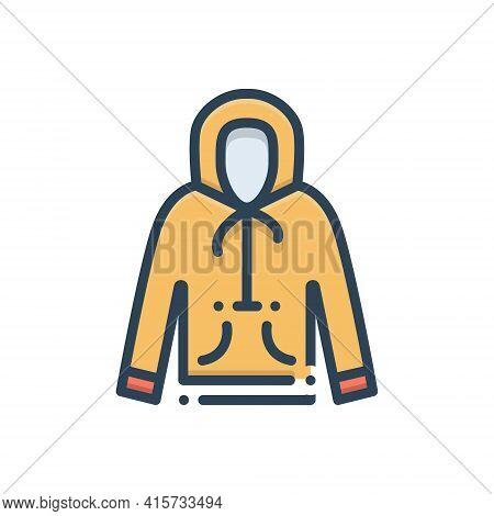 Color Illustration Icon For Hoodie  Sweatshirt Pullove  Jumper Cardigan Dress