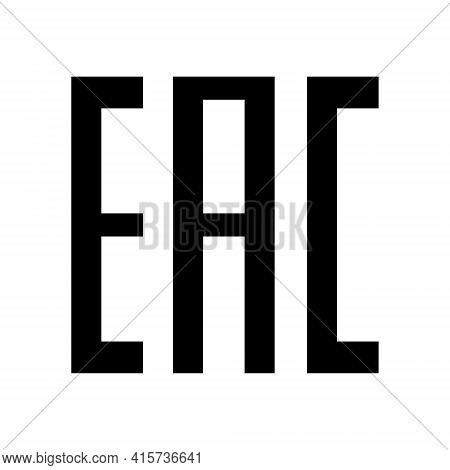 Eac Logo Icon. Aurasian Conformity Made Symbol. Kazakhstan Mark Eurasian Union Eac Design Pictogram