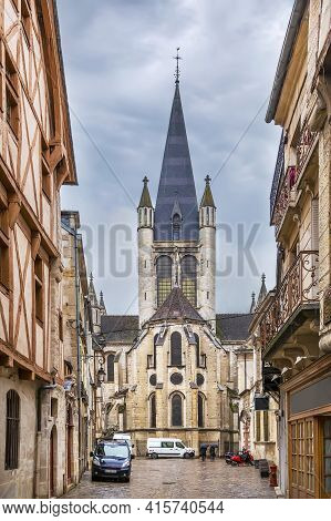 Church Of Notre-dame Of Dijon Is A Roman Catholic Church In Dijon. View From Apse