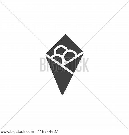 Fried Cheese Balls Vector Icon. Filled Flat Sign For Mobile Concept And Web Design. Crispy Cheese Ba