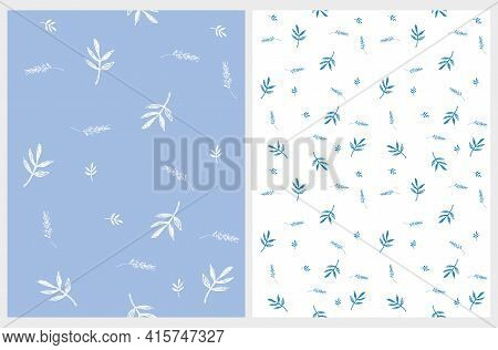 Cute Irregular Abstract Garden Print.floral Seamless Vector Patterns Ideal For Fabric, Textile. Simp
