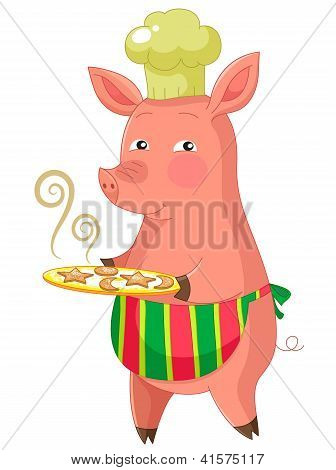 piggie with cookies