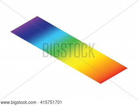 Light Spectrum Isometric Color Electromagnetic Wavelength Radiation Prism Line, Visible Spectrum