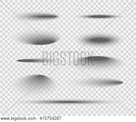 Shadow Ball Circle Round Vector Bottom Floor Shadow. Oval Shade Ellipse Illustration