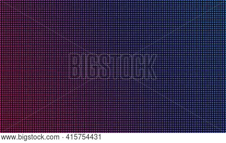 Led Screen Texture Dots Background Display Light. Tv Pixel Pattern Monitor Screen Led Texture