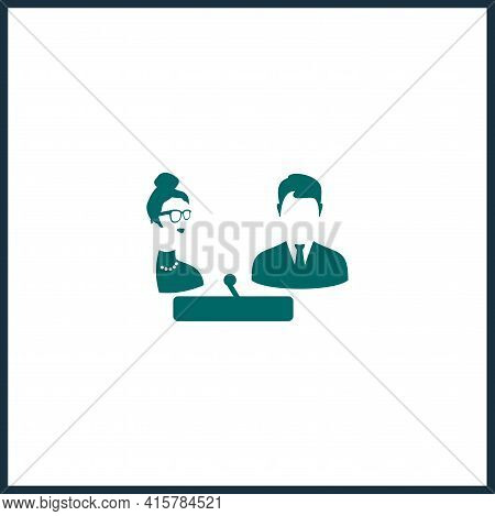 Interview Simple Vector Icon. Interview Isolated Vector Icon.