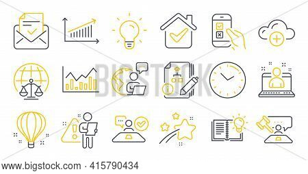 Set Of Education Icons, Such As Best Manager, Mobile Survey, Product Knowledge Symbols. Air Balloon,