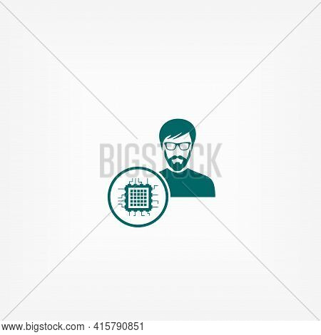 Crypto Agent Simple Vector Icon. Crypto Agent Isolated Icon.