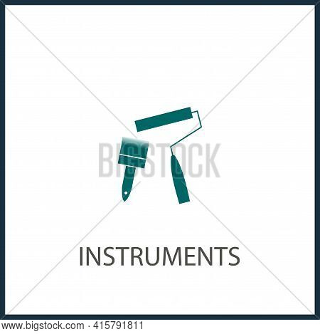 Painting Tools Simple Vector Icon. Painting Isolated Icon.