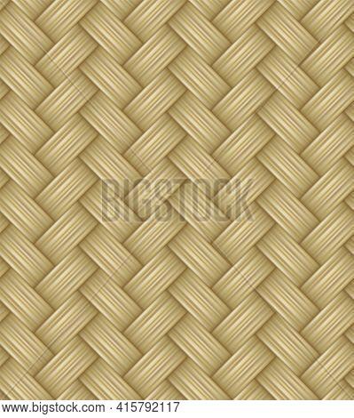 Seamless Waven Straw Texture Wicker Or Rattan Pattern
