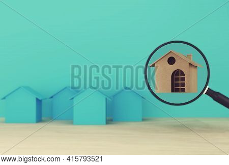 Financial Management Concept : House And Financial Save Money For Residence. Property Investment Rea