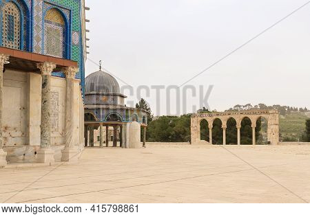 Canyors - Stone Arches On The Stairs Leading To The Dome Of The Rock Mosque, Dome Of The Rock Mosque