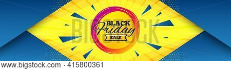 Black Friday Sale Sticker. Abstract Background With Offer Message. Discount Banner Shape. Coupon Tag