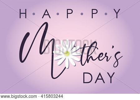 Elegant Happy Mother's Day Card With Purple Background
