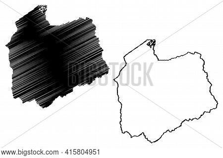 Salt Lake County, State Of Utah (u.s. County, United States Of America, Usa, U.s., Us) Map Vector Il