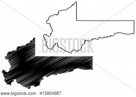 Summit County, State Of Utah (u.s. County, United States Of America, Usa, U.s., Us) Map Vector Illus