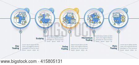 Trading Strategies Vector Infographic Template. Day, Momentum Trade Presentation Design Elements. Da