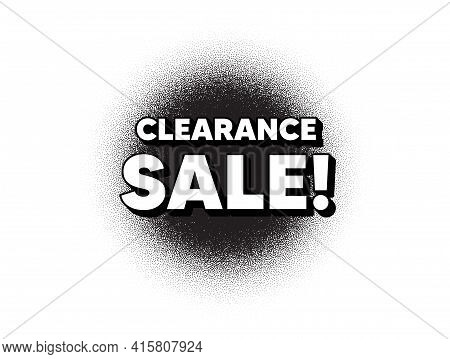Clearance Sale Symbol. Dotwork Stain Pattern. Stipple Dots Banner. Special Offer Price Sign. Adverti