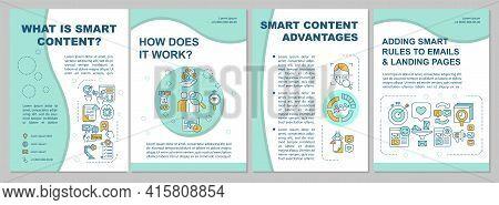 What Is Smart Content Brochure Template. Smart Content Advantages. Flyer, Booklet, Leaflet Print, Co