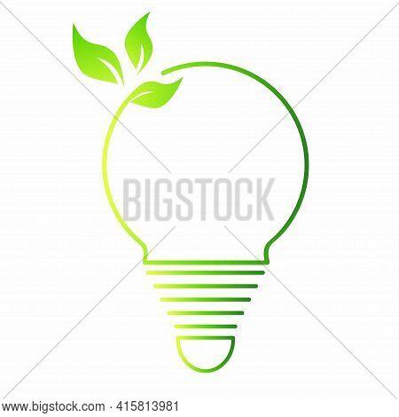 Bulb Templates. Green Concept. Safe Idea. Eco-friendly Concept. Eco Concept